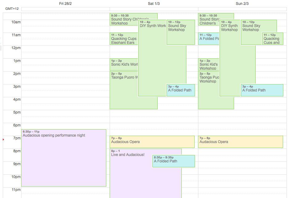 Audacious Calendar